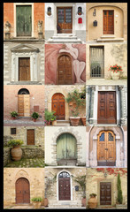 vintage door wallpaper