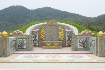 chinese style tomb