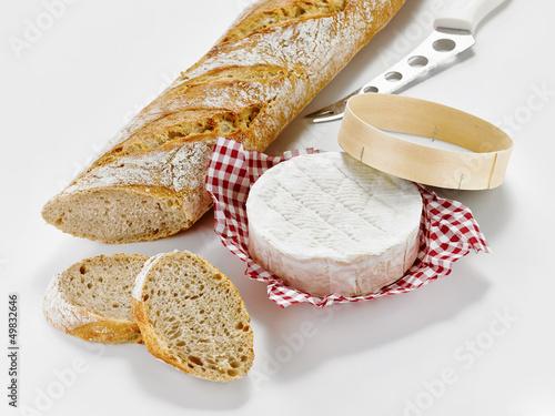 Baguette mit Käse