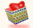 una sactola con cuore