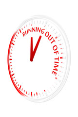 Time is running out clock vector illustration
