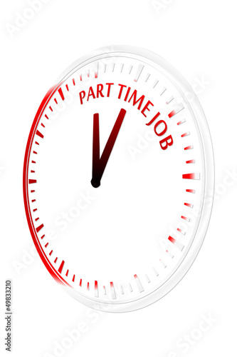 Part time job clock vector illustration