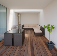 modern luxury in a private terrace