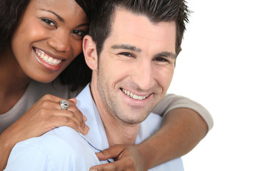 Portrait of a mixed-race couple