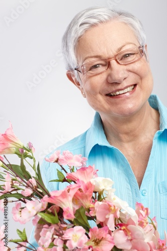 Happy granny at mother's day