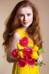 beautiful girl with wonderful hair