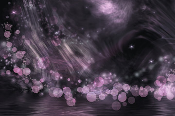 Abstract fantasy in dark gray and pink