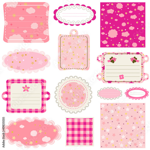 elements for baby scrapbook
