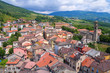 Panoramic view of Bardi. Emilia-Romagna. Italy.