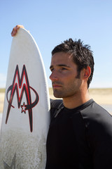 Man with a surf board