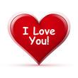 Herz, I Love You, Zeichen, Symbol, Icon, Liebe, Spruch, Text, 3D