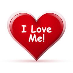 Herz, I Love Me, Symbol, Icon, Liebe, Herzchen, Spruch, Text, 3D
