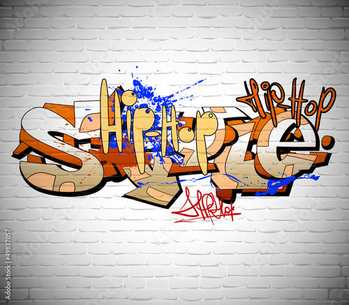 Graffiti wall background, urban art - 49837057