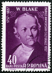 ROMANIA - 1958: shows William Blake (1757-1827), English poet