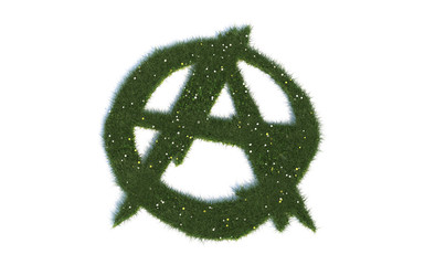 "Anarchie: Serie ""Symbole aus realist. Gras"""