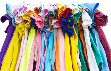 T-shirts with different colors and seam.