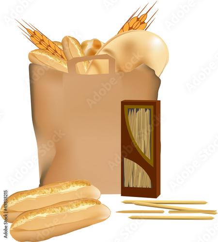 sacchetto del pane e grissini