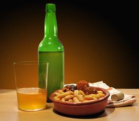 Menú típico asturiano.