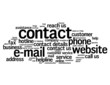 """CONTACT"" Tag Cloud (call us details hotline customer service)"