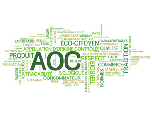 Nuage de Tags APPELLATION D'ORIGINE CONTROLEE (label aoc france)