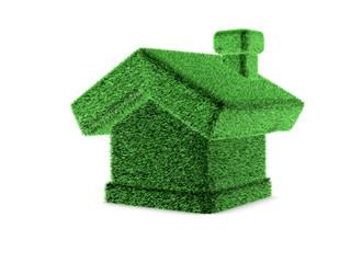 3d grass house