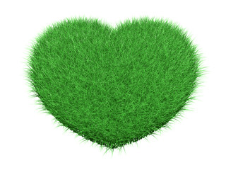 Green grass heart
