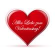Herz, Alles Liebe zum Valentinstag, Zeichen, Symbol, Icon, Rot
