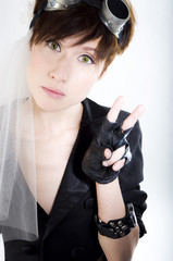 Cosplay gilr in anime stile