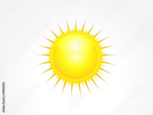 abstract glossy sun icon