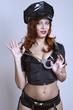beauty sexy police woman