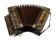 altes antikes Akkordeon, Schifferklavier, Ziehharmonika