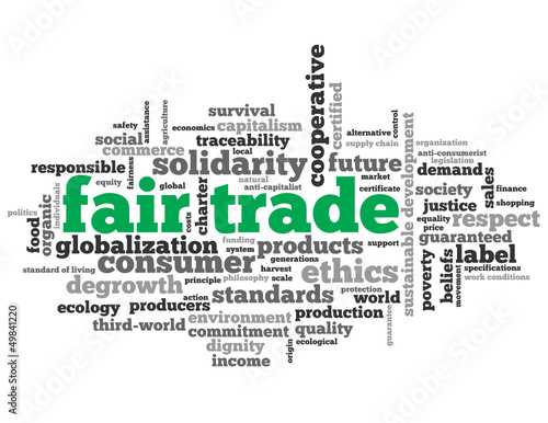 FAIR TRADE Tag Cloud (ethics solidarity consumer commerce label)