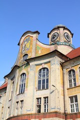 Poland - Bytom - old high school building