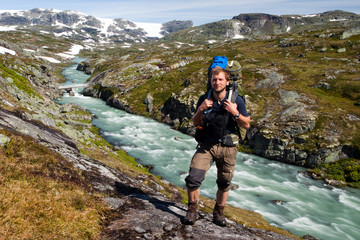 Trekking im Hardangervidda Nationalpark in Norwegen