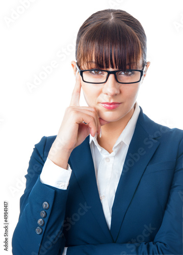 Portrait of a young attractive beautiful businesswoman