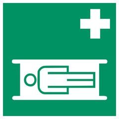 Rettungszeichen - Krankentrage
