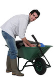 Man with a wheelbarrow