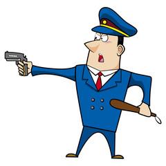 male cartoon police officer