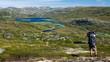 Trekking in der Hardangervidda in Norwegen