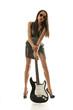 hübsches Model mit Gitarre