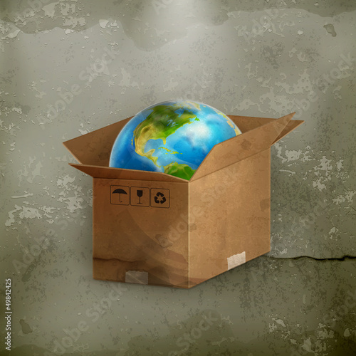 World in box, old-style