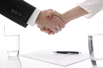 Handshake over a contract