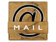 Button, Icon_MAIL @_Holzoptik - 3D