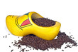Tradional dutch clog with chocolate sprinkles
