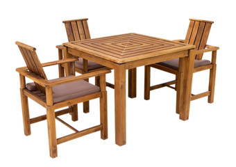 Table and chairs isolated