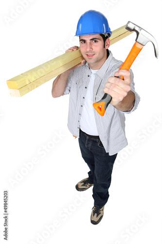 Man holding hammer