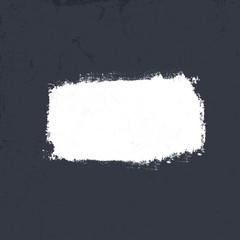 White grunge label on dark textured background. Vector, EPS10