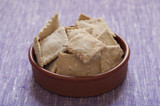 Close-up view of organic home-made Crackers