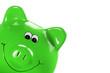 Grünes Sparschweinchen