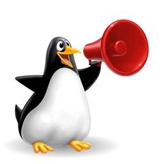 pinguino megafono